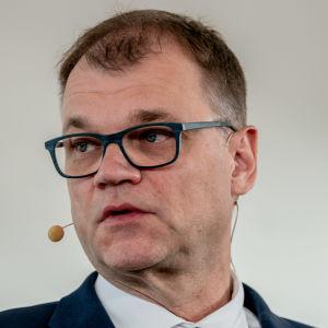 Juha Sipilä hallitusinfossa