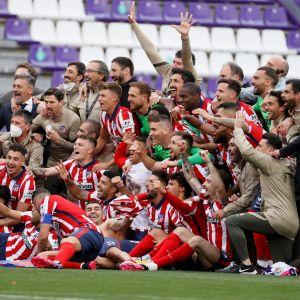 Atletico Madrid firar titeln.