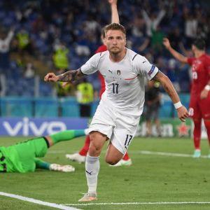 Ciro Immobile satte 2-0 målet mot Turkiet.