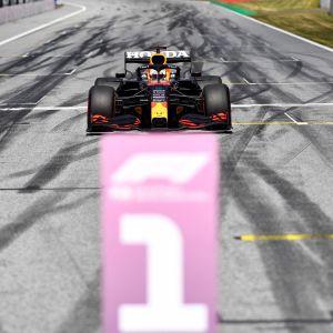Max Verstappen under Österrikes GP.