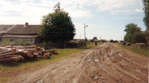 Lokalväg i Aunus kring millennieskiftet