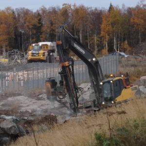 Grunden läggs för kärnkraftsverket på Hanhikivi-udden