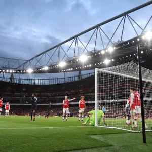 Arsenal har släppt in ett mål.
