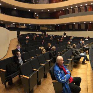 Lahden valtuusto Sibeliustalossa maaliskuussa 2020