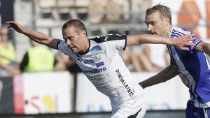 Jesper Engström i VPS mot HJK.