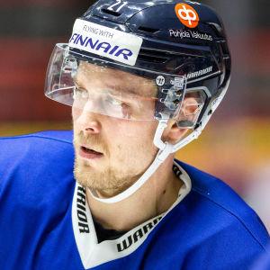 Juhani Tyrväinen på landslagsträning.