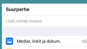 Kuvakaappaus WhatsAppista: Mykistäminen iPhonessa.