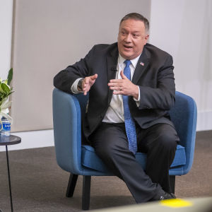 USA:s utrikesminister Mike Pompeo i Georgia den 9 december 2020.