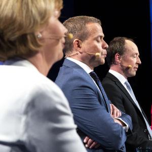Puoluejohtajat eurovaalitentissä 2019