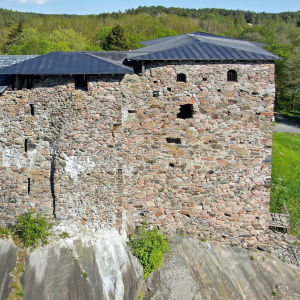Raseborgs slott fotograferat från luften.