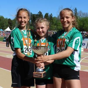 Kapellby vann 600+600+400 för små skolor, Stafettkarnevalen 2018.