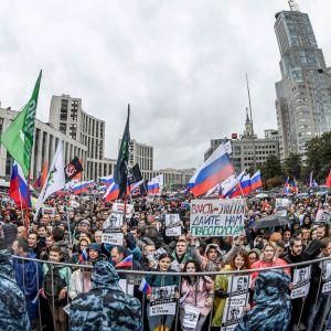 Demonstration i Moskva 10.8.2019