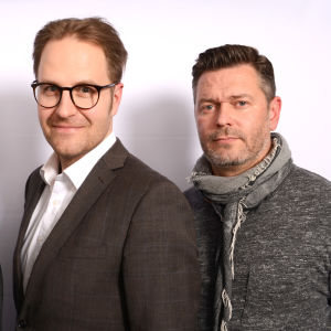 Kalevi Pollari, Kyösti Mäkimattila ja Petri Alanko seisomassa