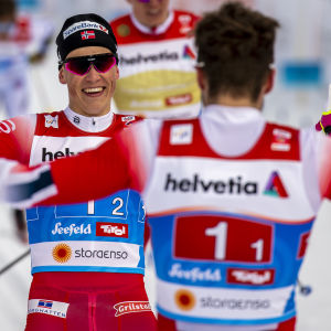 Johannes Hösflot Kläbo och Emil Iversen.
