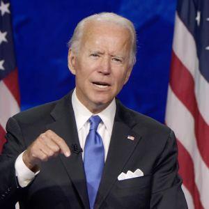 Joe Biden demokraattien puoluekokouksessa 20.8.2020.
