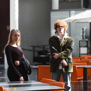 Mathilda Sjöblom, Benjamin Rosenlund och läraren Rasmus Kyllönen
