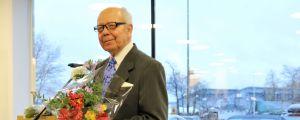 Två äldre män, Gustaf Sundman och Nils Kevin. De fick Ingås kulturpris 2013 för sitt arbete för hembygden och lokalhistorian.