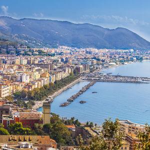 Näkymä Salernon kaupunkiin.