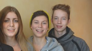 Från vänster; Mineha Westerlund, Elias Salvesen och Niklas Lääkäri.