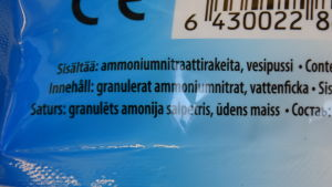 Kylpåse som innehåller ammoniumnitrat.