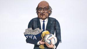 Sepp Blatter-karikatyr.