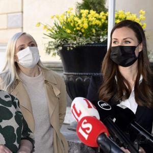 Annika Saarikko, Maria Ohisalo och Sanna Marin.