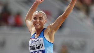 Taika Koilahti hoppar i VM 2019.