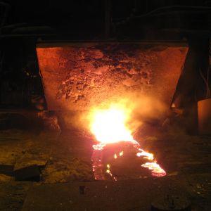 Masugnen i Ovakos fabrik i Koverhar