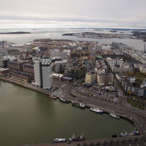 Jätkäsaari laaja ilmakuva etelään päin
