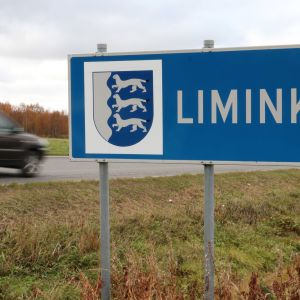 Limingan kuntakyltti kunnanrajalla.