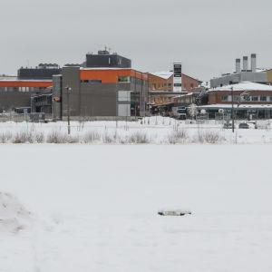Vy från östra åstranden mot västra åstranden i Borgå