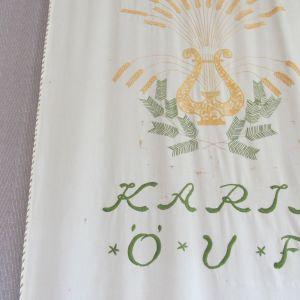 Väggbonad från Karis östra ungdomsförenings lokal Hagalund.