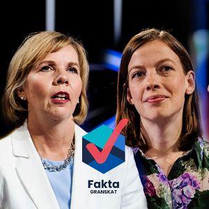 Sanna Marin, Anna-Maja Henriksson, Li Andersson och Jussi Halla-Aho i debatt