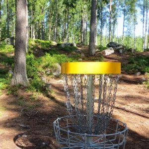 Frisbeegolfbana vid Nickby motionsbana