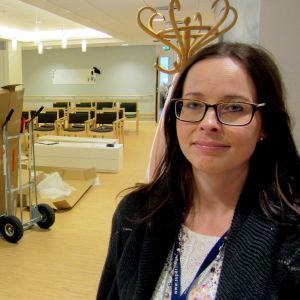 Katarina Gustafsson mitt i flyttkaoset