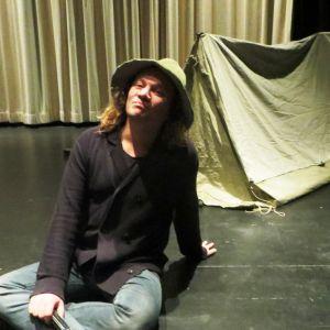 Skådespelaren Kim Gustafsson som Snusmumriken