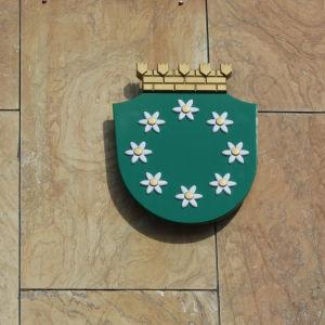 Raseborgs vapen på Pojo kommunhus