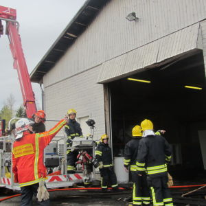 Brand i lager i Nickby