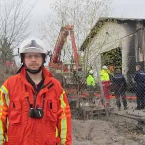 Brandmästare Mika Siitonen