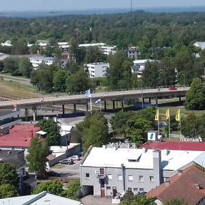 Järnvägsbron i Hangö.