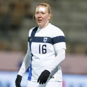 Rekorddamen Anna Westerlund, som kommer från Pargas, spelar till vardags för Åland United.