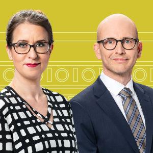 Svenska Yles Carin Göthelid, Anna Bäck och Peik Österholm.