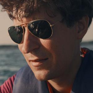 Kasper Strömman på sjön