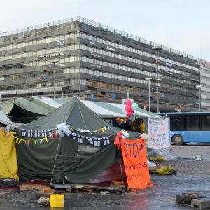 de asylsökandes demonstration 10.3.
