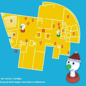 En karta över allt som händer på BUU-dagen i Helsingfors 2019
