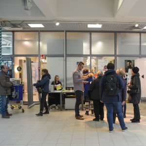 Förhandsröstning i varuhuset Lundi i Borgå
