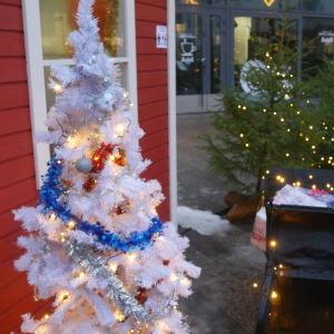 Joulukoristeet Marian aukiolla Lappeenrannassa