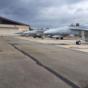 Ilmavoimien Lakeus21-lentotoimintaharjoitus Kauhavalla elokuussa 2021