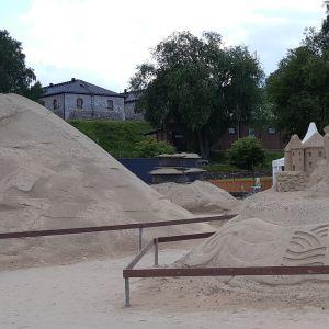 Lappeenrannan hiekkalinnassa on vain muutama veistos