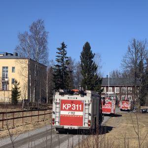 Utryckning till markbrand intill Lagmansgården i Pedersöre.